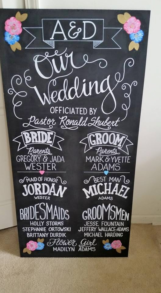 Alexa Wedding Program Board
